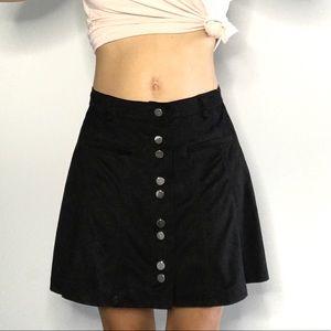 🔥 Zara Trafaluc Women's Black Velvet Skirt 🔥